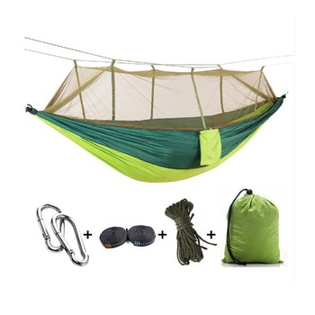 Outdoor Portable Nylon Camping Hammock With Mosquito Net