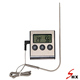 Digital roast BBQ thermometer & timer in&out use with stainless steel probe with flip down stand hanger hole and magnet