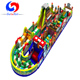 Gutefun new design large beast inflatable obstacle course, kids and adults inflatable obstacle challenge for sale