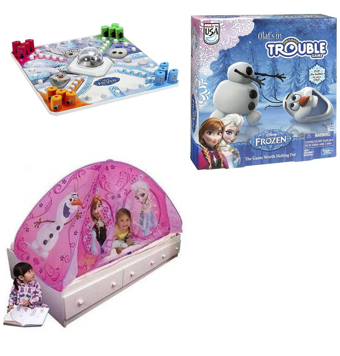 Disney Frozen Light up Tent & Olafs in Trouble Game