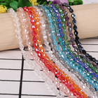 New Arrive 70pcs 5x7mm Teardrop Drop shape Crystal Beads Loose Spacer Beads For DIY Jewelry Crafts Sewing Clothing Accessories