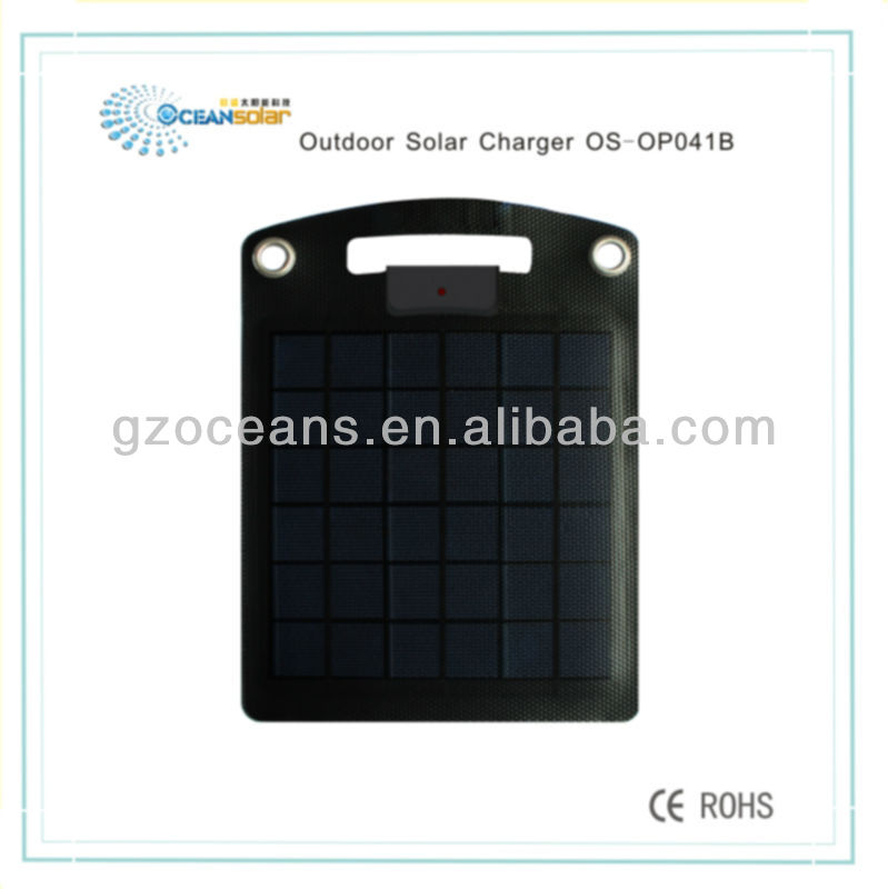 Outdoor solar charger for cell phone charging OS-OP041B can be hung in the bag with CE RoHS and FCC certificate