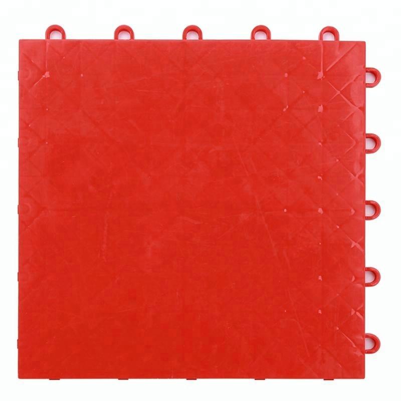 Ao ar livre de bloqueio de plástico sintético quadra de badminton piso de basquete