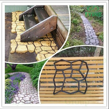 DIY Cobblestone Paving Moulds Concrete Cement Plaster Patio Stone Walkway  Mold For Sale