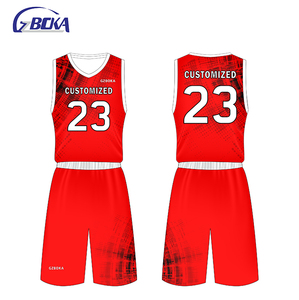 0994410ae Red Jersey Basketball Uniform