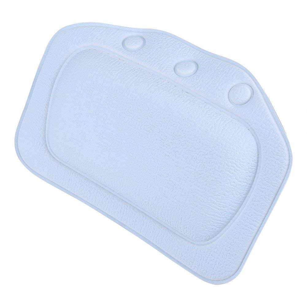 Dioche Bathtub Pillow, Soft Foam Padded Spa Bath Pillow PVC Tub Headrest Head Neck Back Cushion, Providing Head, Neck, Shoulder Support (Blue)