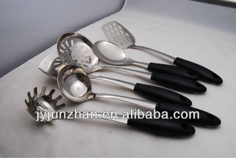 Cooking spoon made in Jieyang factory directly of stainless steel 201 material
