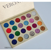private label cosmetics best selling products 15 colors glitter eyeshadow, pressed glitter makeup