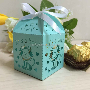 Cute Blue Its A Boy Laser Candy Box Chocolate Favour Box Baby Shower Gift  Box Christmas