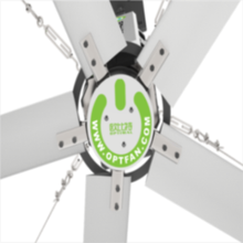 OPT Super HVLS 24FT Silent 5 Blades No Noise Carbon Ceiling Fan