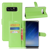 Factory Mobile Phone Magnet Cell Phone Wallet For Samsung Galaxy Note 8 Leather Flip Cover With Card Slots High Quality