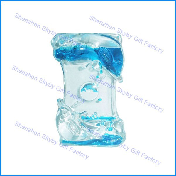 Dolphin Shape Blue Liquid Large Hourglass Sand Timer