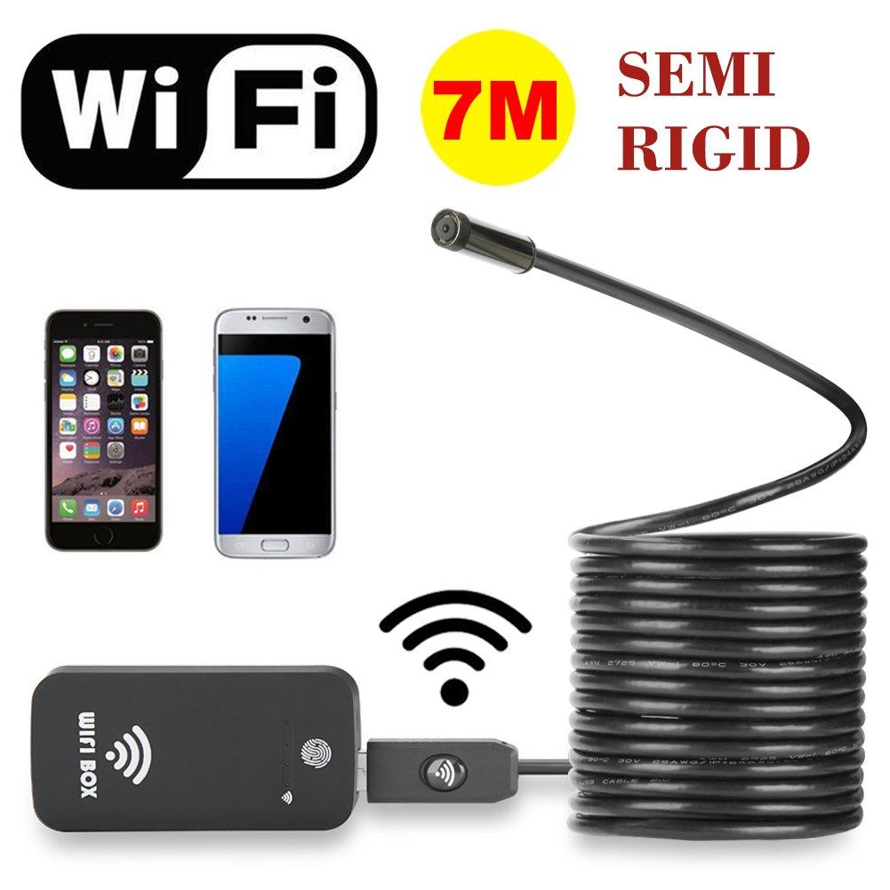 HD 720P Waterproof Smart WIFI Camera Snake Inspection Endoscope LED Camera Endoscope Waterproof for Phone PC Laptop 5M Cable Zouvo Wireless Endoscope