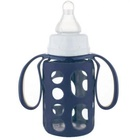 BPA FREE 120ml 4oz high borosilicate glass baby feeding bottle with silicon cover