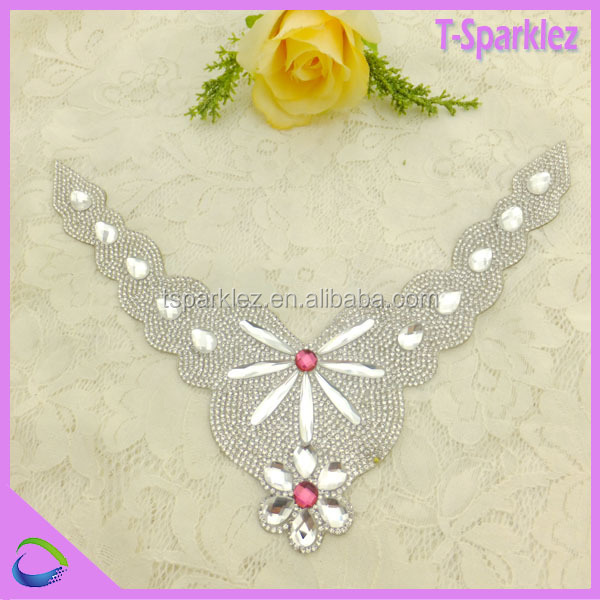 heat press cheap pearl rhinestone template for Pakistan women