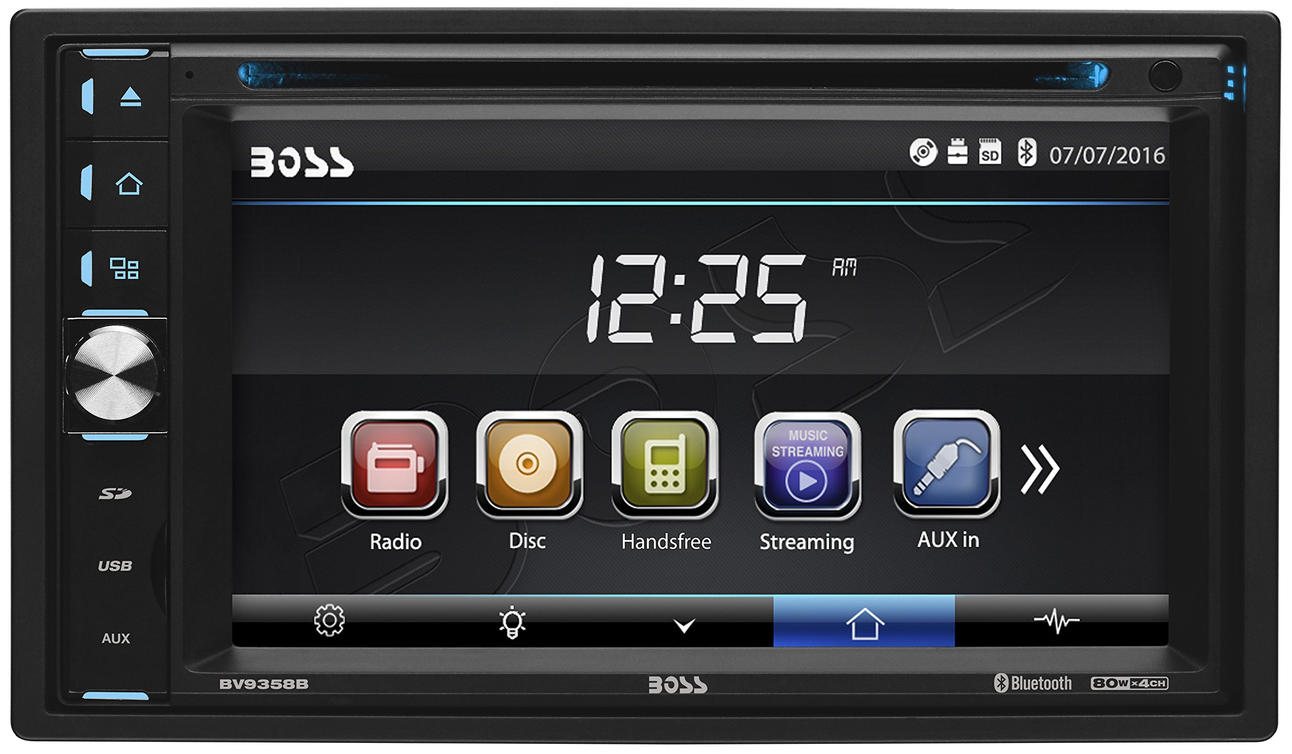 Get Quotations · BOSS Audio BV9358B Double Din, Touchscreen, Bluetooth,  DVD/CD/MP3/