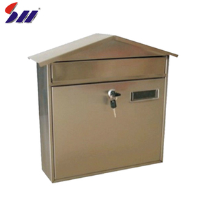 China wholesale office building outdoor key lock stainless steel waterproof American mailbox