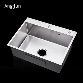 Single Bowl Zero Radius Topmount Drop In Stainless steel Kitchen Sink  Combo, View Topmount Drop In sink, Angjun Product Details from Zhongshan  Suole ...