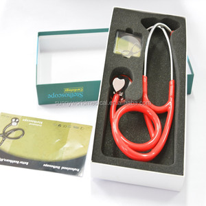 heart shape stethoscope wholesale of personalized single head nurse best stethoscope(SW-ST04C)