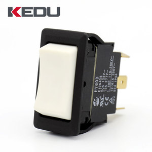 KEDU ON OFF ON DPDT Momentary White Color 3 Way Rocker Switch With UL TUV CE Approval HY60D