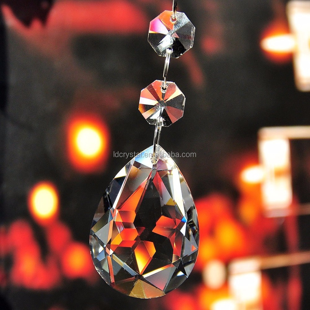 Wholesale clear crystal chandelier parts accessories for home decoration