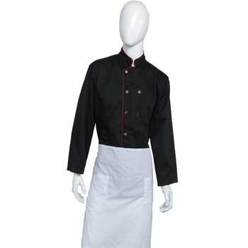 VMannufacturer Hot koop chef uniform restaurant keuken chef uniform zwart executive chef uniform