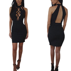 Wholesale Low Price Paypal Hot Women Sleeveless Backless Strap Sexy Dress