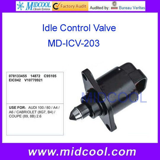 High Quality Idle air control for AUDI OEM 078133455 14872 C95105 EIC042 V10770921