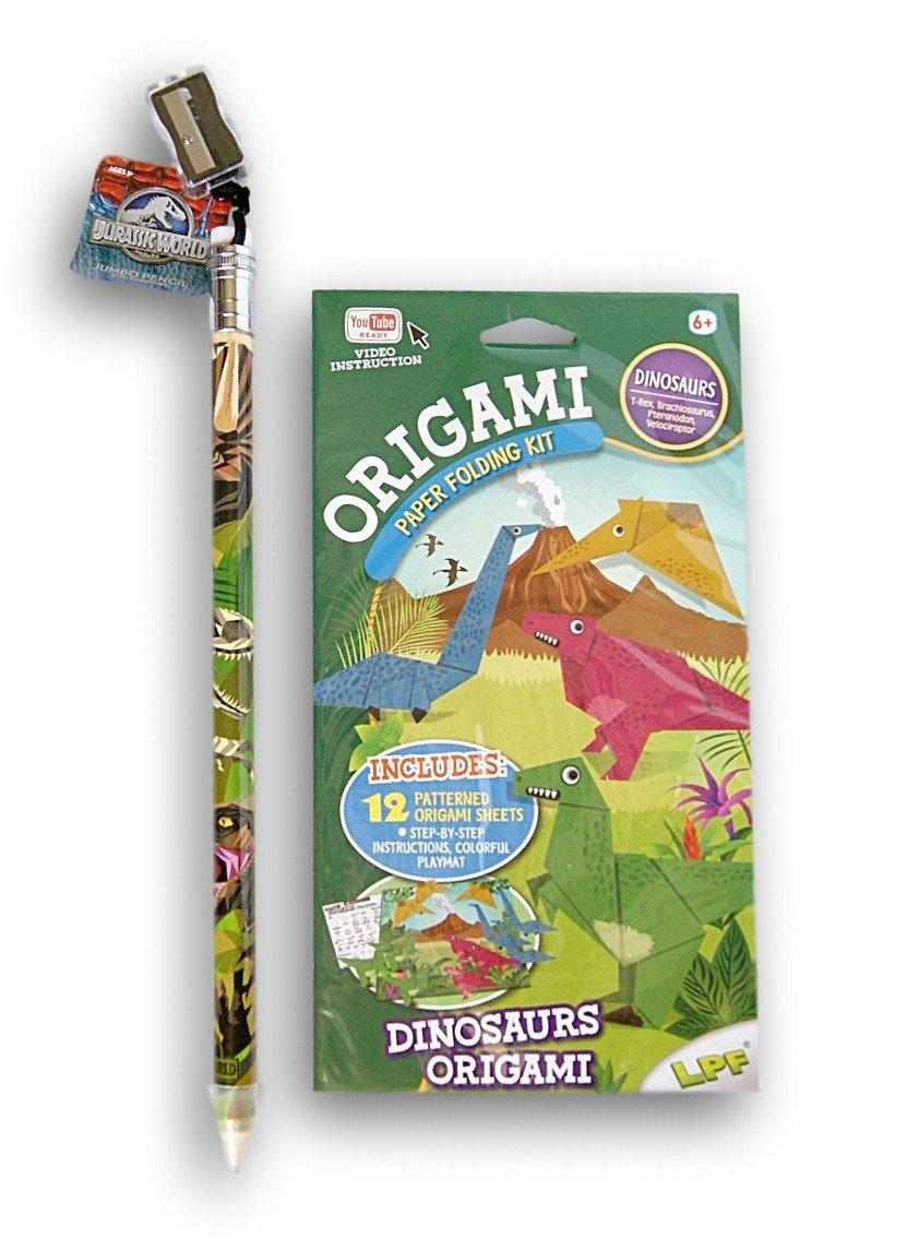 Cheap paper folding art origami find paper folding art origami get quotations dinosaur activity bundle origami paper folding kit and giant jurassic world jeuxipadfo Choice Image