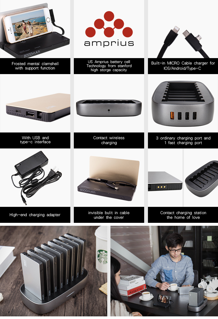 shenzhen multifunctional charger power banks 8000mah cargadores externos