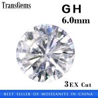 6mm Pure White Synthetic Moissanite Loose Gemstone Moissanite Diamond Wholesale