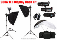 GODOX 900W 3 X 300W Flash Strobe Lighting Photography kit With Softbox For Studio Photo
