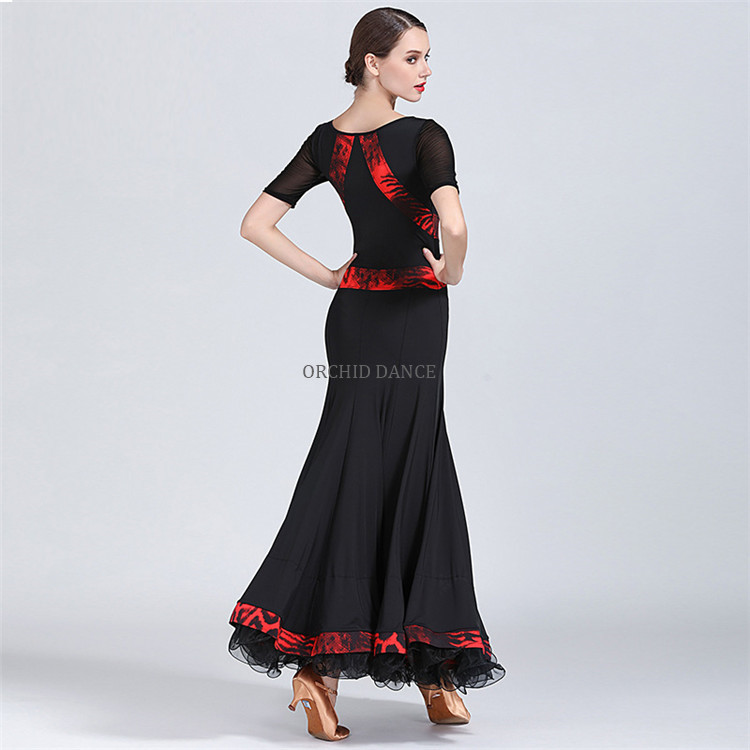 MOQ 1PCS Women Girls Practice Wear Long LatinとBallroom Dress