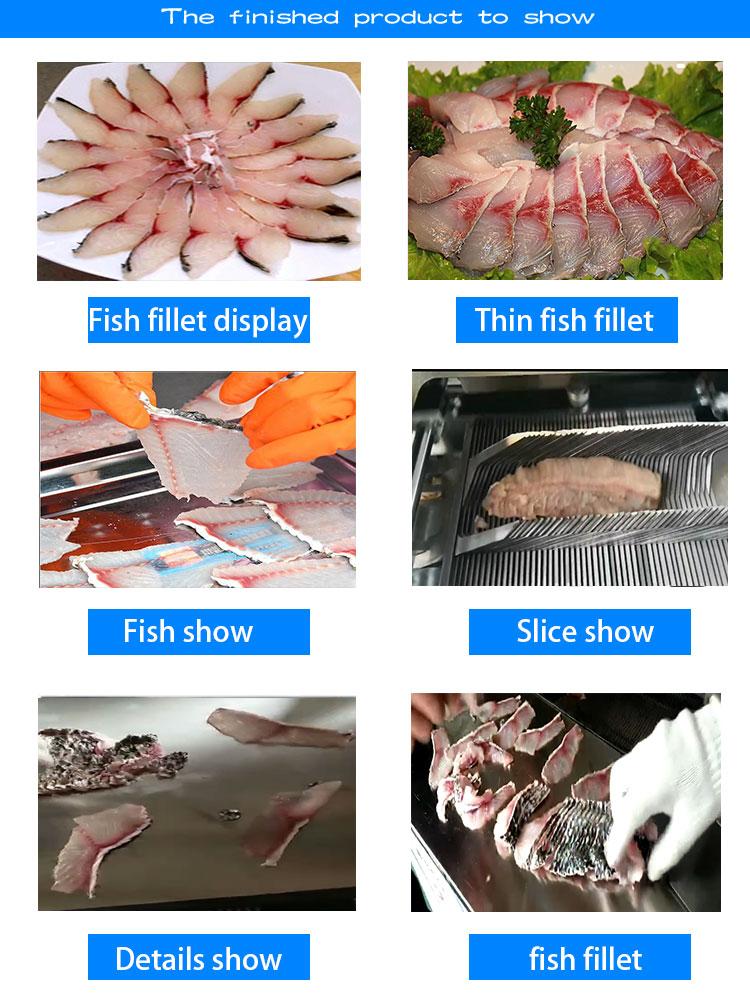 อัตโนมัติเนื้อปลา slice เครื่องตัด/ตัดเครื่องแล่ปลา