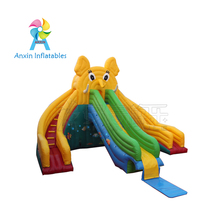 0.55mm PVC material elephant water slide giant inflatable for sale