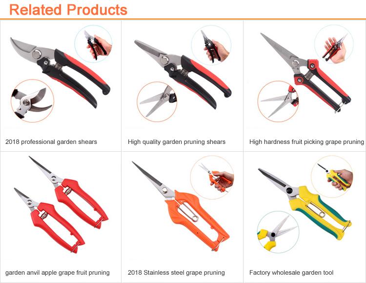 ใหม่ Professional Garden เครื่องมือ Anti-SLIP Grip pruning shears