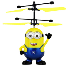 Male Despicable Me Minions Infrared RC Flying Ball Remote Control Helicopter Flying Toy with Led light