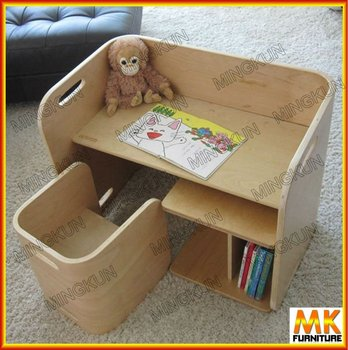 Bent Wood Table And Chair For Kids