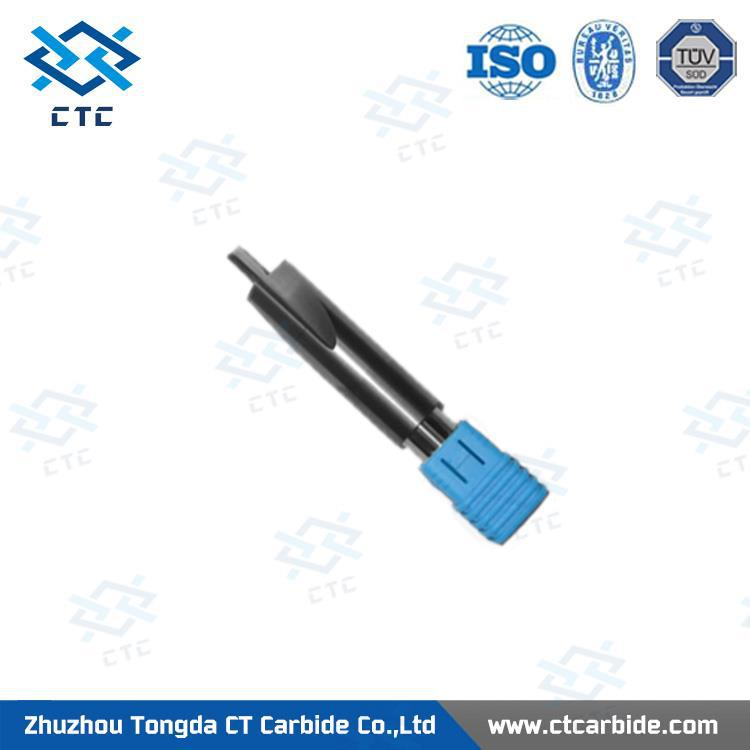Best quality end mill 3.175/tungsten carbide hrc60 diamond coated engraving tools from Zhuzhou Tongda CTC