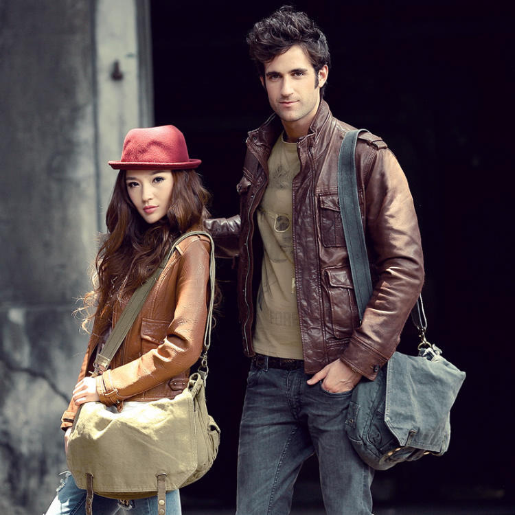 2383 Classic Distressed Style Green Compact Unisex Canvas Leather ...