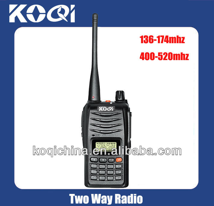 KQ-889D VHF 136-174MHz UHF 400-520MHz Military Walkie Talkie