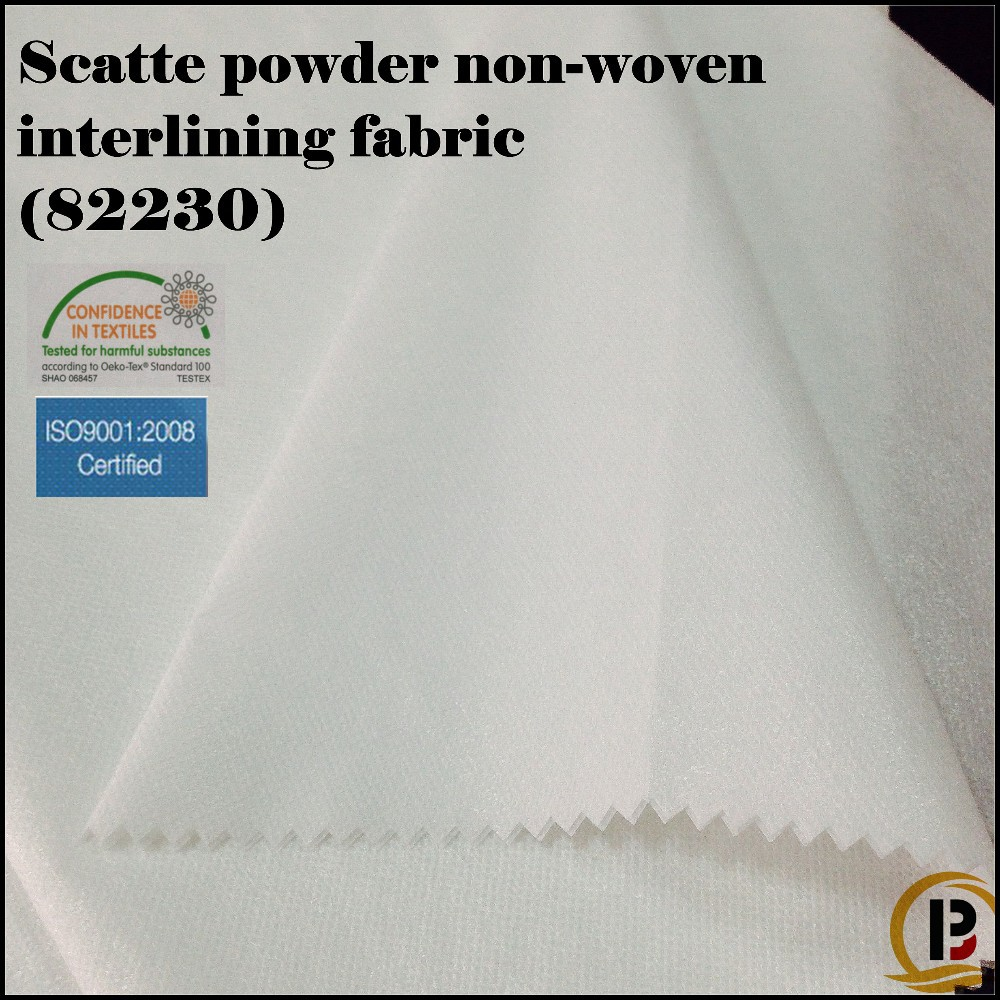 Scatte powder Non-woven fusible interlining fabric for garment/shoe/cap/bag (#82230)