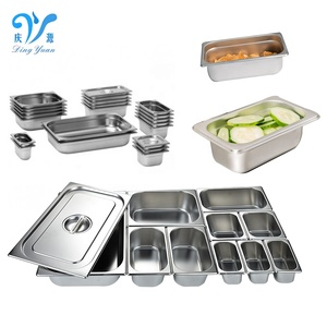 Multiple Sizes Of Stainless Steel Gastronom Pans/ GN Food Pans for Kitchen