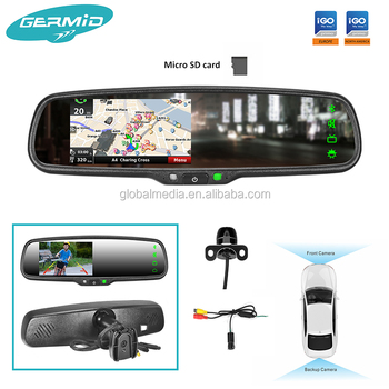 2018 Rearview Mirror With Gps Bluetooth Camera,Free Map Installed,Best  Gps,Touch Screen,Video,Audio,Fm,Sd Card,Gps Navigator - Buy Igo  Map,Bluetooth