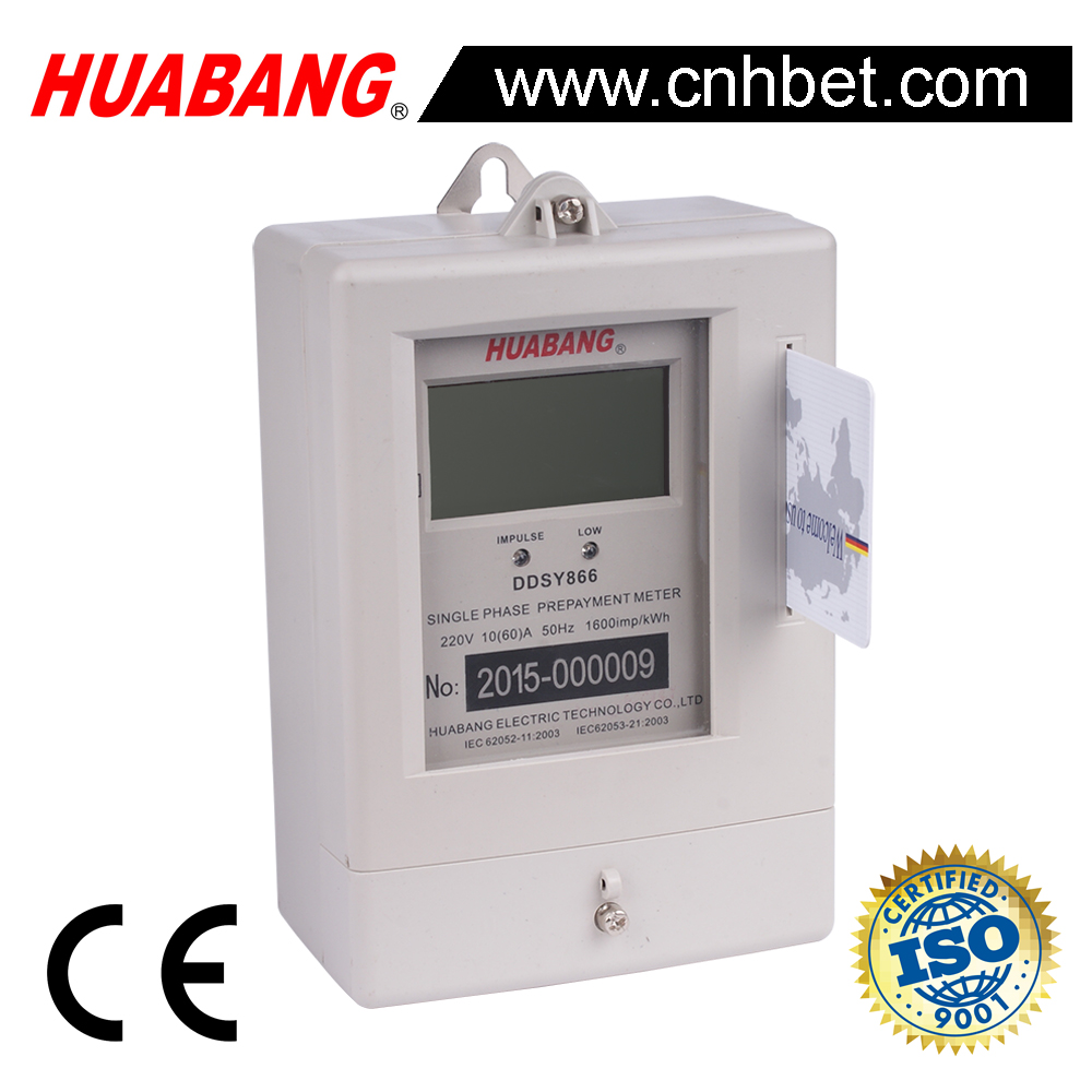 DDSY866 prepaid single phase electrical kWh meter