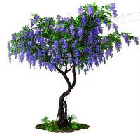 Artificial Wisteria Blossom Trees,White Wedding Tree