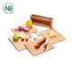 LOVE letter home kitchen food grade bamboo cutting board set with stand