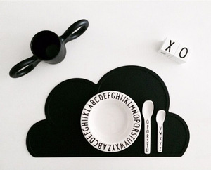 68G Kids Silicone Cloud Placemat Dinnerware Table Mat Washable Portable Place Mat