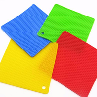 Non Slip Flexible Durable Heat Resistant Silicone Pot Holder/ Silicone Trivet / Coaster / Placemat / Hot Pad