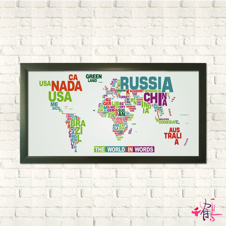 The map of the world of creative living room decorative  mural decorations hanging banners Home Furnishing minimalist
